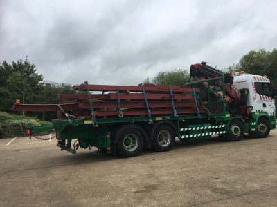 Lorry Steel Delivery